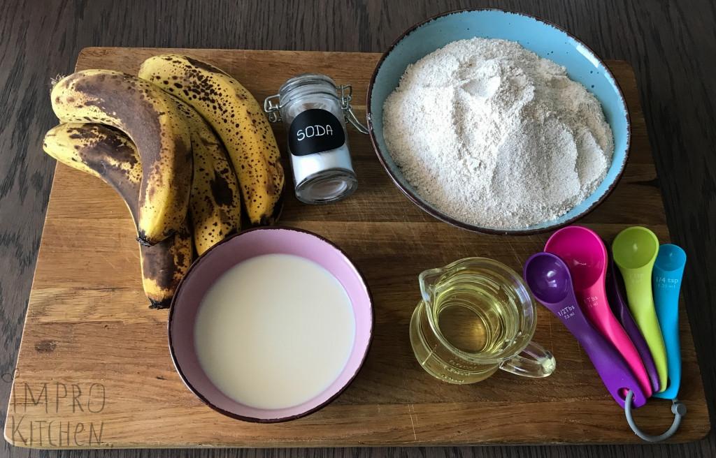 Składniki nachlebek bananowy