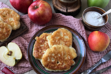 Racuchy z jabłkami babci Halinki