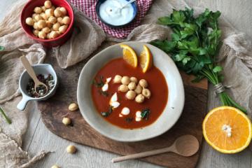 Zupa krem pomidorowo - pomarańczowa